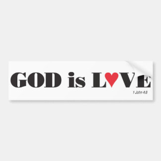 God is Love Bumper Sticker Car Bumper Sticker