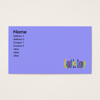God Is Love Business Card