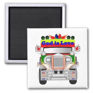 God Is Love Car Magnet