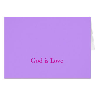 God is love greeting cards