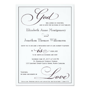 Christian wedding invitations zazzle god is love christian script wedding invitation filmwisefo