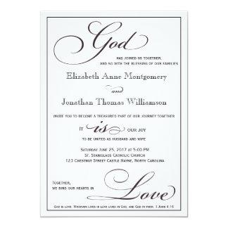 Captivating God Is Love Christian Script Wedding Invitation