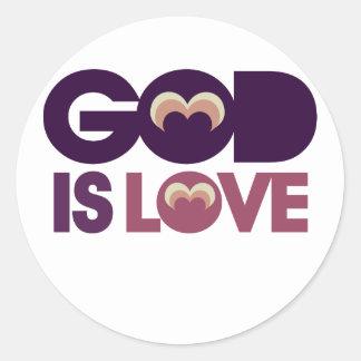 God is Love Classic Round Sticker