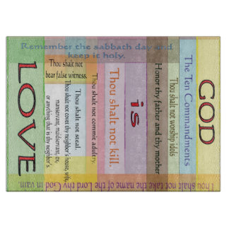 God is Love Cutting Board