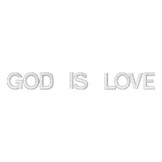 God is love Embroidered Shirt