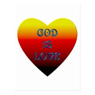 """God is Love"" Heart Postcard"
