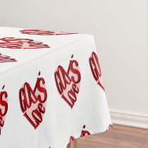 God Is Love (hearts) Tablecloth