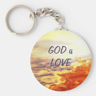 GOD is LOVE Keychain