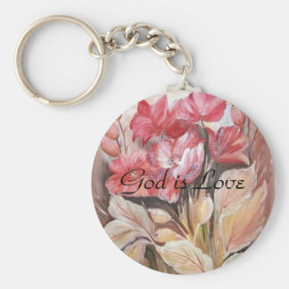 God is Love -  Keychain