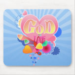 GOD IS LOVE MOUSE PAD