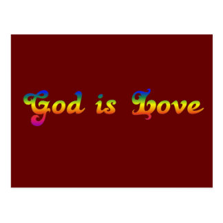 God is love not hate post cards