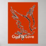 God Is Love Orange Poster