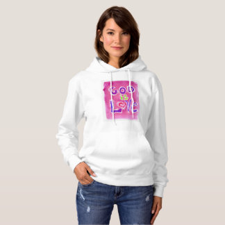 GOD is LOVE PINK 1 Hooded Sweat shirt
