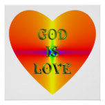 """""""God is Love"""" Poster"""