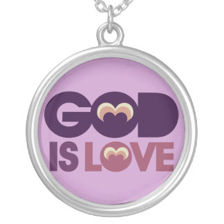 God is Love Round Pendant Necklace