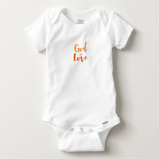 God is Love – Spiritual and Religious Baby Baby Onesie