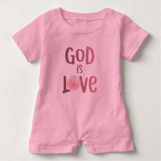 God is Love – Spiritual and Religious - Baby Baby Romper