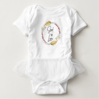 God is Love – Spiritual and Religious Baby Bodysuit