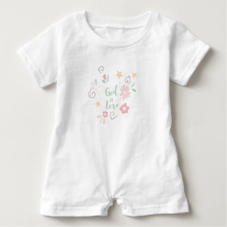 God is Love – Spiritual and Religious Baby Romper