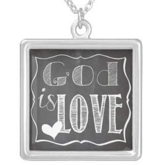 God is Love - Square Necklace