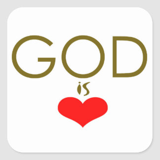 God is Love Square Sticker