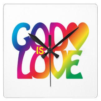 God Is Love Wall Clock