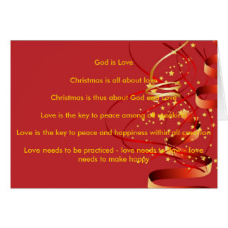 God is LoveChristmas is all Cards