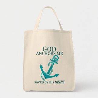 God Is My Anchor Tote Bag
