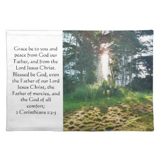 God is my comfort. cloth place mat