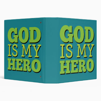 God is my hero 3 ring binder