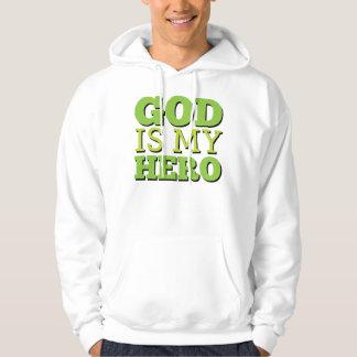 God is my hero hoodie