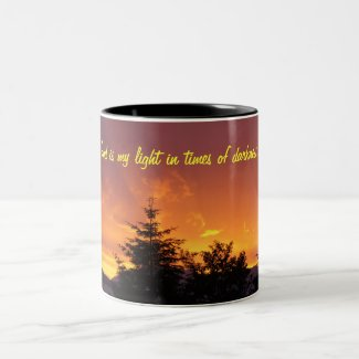 God is my light mug