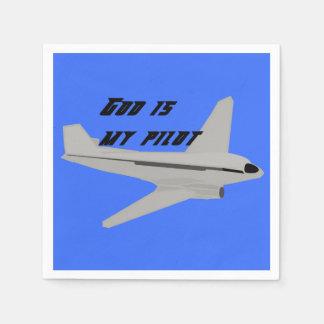 God Is My Pilot Paper Napkin