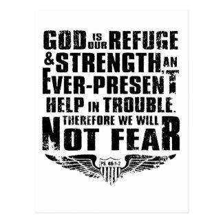 God is my refuge postcard
