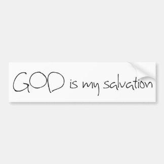 God is my Salvation Bumper Sticker