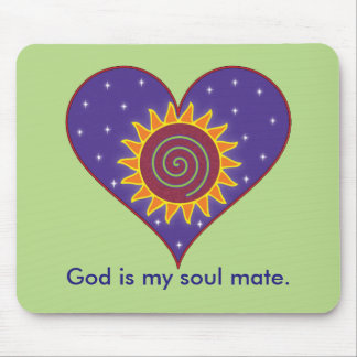 God Is My Soul Mate Mouse Pad