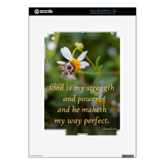 God is my Strength Decals For The iPad 2