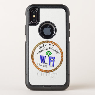 God is My Wireless Provider Phil 4:19 OtterBox Commuter iPhone X Case