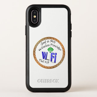 God is My Wireless Provider Phil 4:19 OtterBox Symmetry iPhone X Case