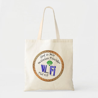 God is My Wireless Provider Phil 4:19 Tote Bag