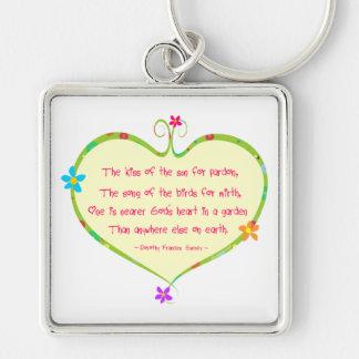 God is Nearer in a Garden Keychain
