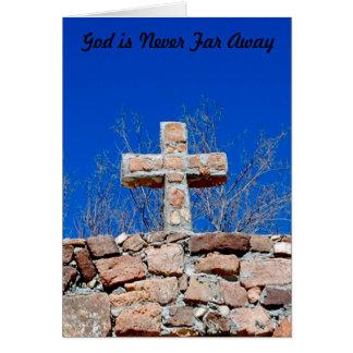 God is never far away card