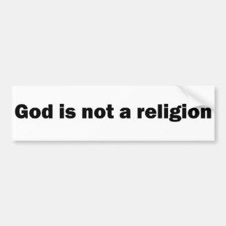 """God is not a religion"" bumper sticker Car Bumper Sticker"