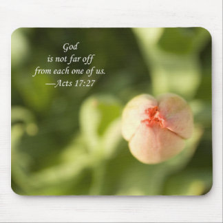 God is not far off from each one of us, mouse pad