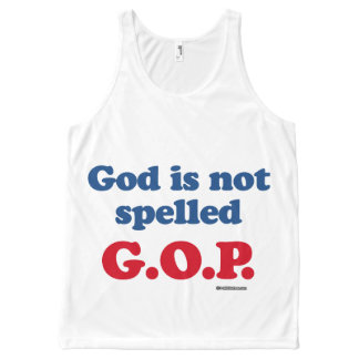 God is not spelled GOP Politiclothes Humor -.png All-Over Print Tank Top