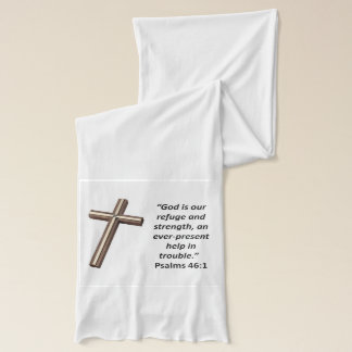 God is our refuge and strength scarf