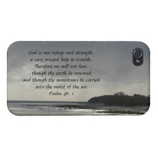 God is our refuge and strength-Scripture iPhone 4 Covers