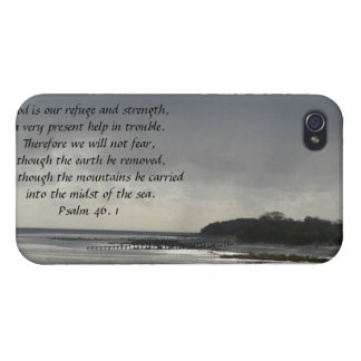 God is our refuge and strength-Scripture/Seascape iPhone 4/4S Covers