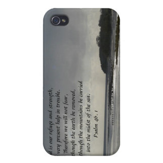 God is our refuge and strength-Scripture/Seascape iPhone 4 Covers