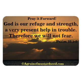 God is our refuge Bible Quote Magnet